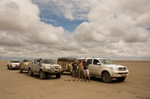 The guys and their bakkies